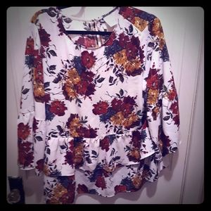 Time and Tru Flower Blouse